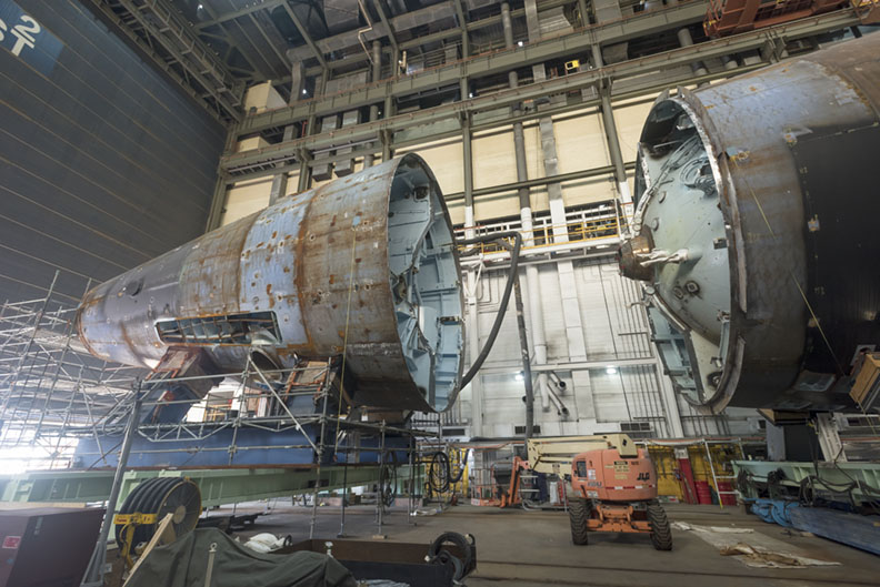 First photos of USS Montana under construction (posted 8/9