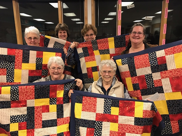 This image has an empty alt attribute; its file name is USSMTC-Piecemakers-w-New-Baby-Quilts-4-20.jpg