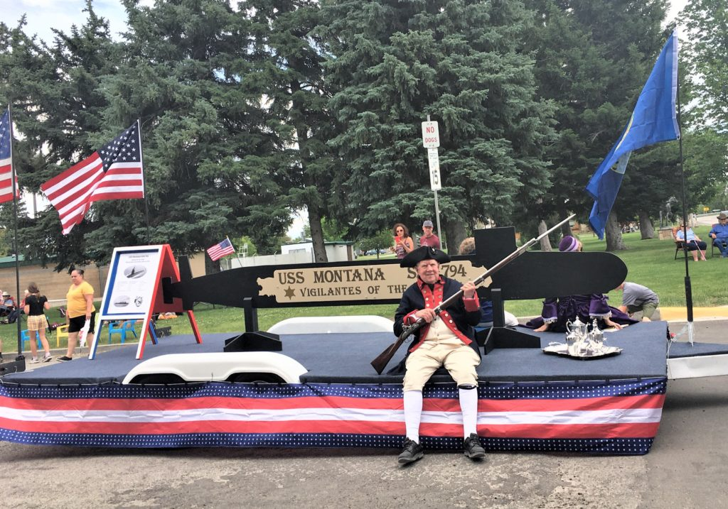 This image has an empty alt attribute; its file name is USSMTC-DAR-SAR-Float-in-Big-Timber-Parade-6-27-20-1024x717.jpg