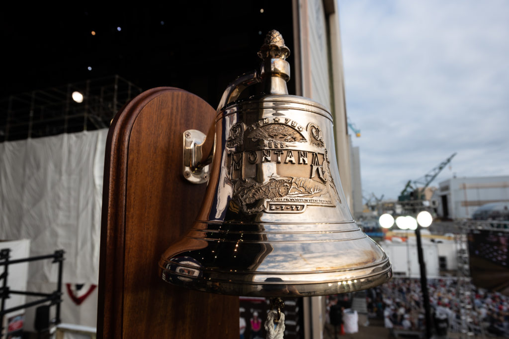 This image has an empty alt attribute; its file name is USSMTC-Photo-Bell-at-Christening-MH-NNS-9-12-20-1024x683.jpg